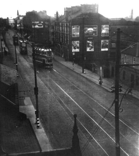 Shettleston Tramcar Terminus at Culross Street 1939
