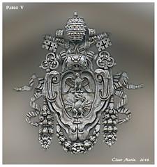 ITALIA  Roma.   C.M. (Cesalf) Tags: escudos heráldica heraldicapapal