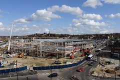 Town Tesco 21st Mar 2014 (3) (Chris.,) Tags: england panorama tesco cranes constructionsite rotherham superstore southyorkshire tcn sypte canonefs55250mmf456is echarris canoneos1100d bspconsulting isgplc smithysmalleyarchitects