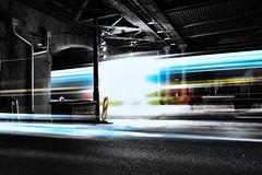 Slipstream (The Adventurous Eye) Tags: light test color lines night train stream image f14 tunnel line brno fujifilm mm 35 fujinon 3514 viadukt slipstream xt1 šalina