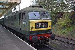 """Class 47 D1705 """"Sparrowhawk"""" (J @BRX) Tags: leicestershire brush loughborough sparrowhawk sulzer greatcentralrailway gcr class48 class47 type4 47117 d1705 march2014"""