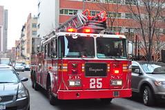 FDNY Ladder 25 (Triborough) Tags: nyc newyorkcity ny newyork manhattan lowermanhattan civiccenter newyorkcounty