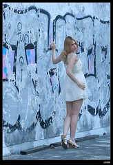 nEO_IMG_DP1U1597 (c0466art) Tags: portrait motion art beauty pose bride pretty outdoor ruin blond attractive cloth charming elegant russian yuna goegeous