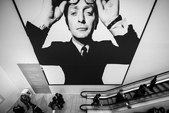 My Name Is... (Sean Batten) Tags: portrait england blackandwhite bw london nikon unitedkingdom escalator nationalportraitgallery d800 michaelcaine davidbailey 1424