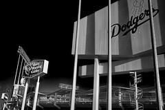 Dodger Stadium (Culture Shlock) Tags: blackandwhite bw building architecture buildings losangeles baseball stadium stadiums structures ballpark dodgers mlb ballparks losangelesdodgers chavezravine majorleaguebaseball