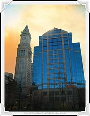customHouseCorners (ready2go [redE8]) Tags: boston dc customhousetower mckinleysquare skyeffect cloudstexture dcmemorialfoundation picturecorners picmonkey