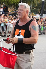 Tank top & tatts (LarryJay99 ) Tags: gay people hairy man male men guy smile pits goatee arms masculine candid manly glbt guys parade dude facialhair dudes fare stud studs armpits tanktops cargopants cargos virile efs60mmf28macrousm tattstattoos