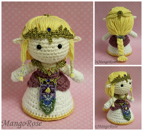 Princess Peach (from Super Mario Brothers game) KNITTED Doll ... | 457x499