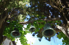 IMGP4359 Evangelistra Monastery bells, Skiathos (kevin_livesey) Tags: travel vacation holiday bells greek islands greece monastery skiathos sporades evangelistra