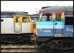 Norwich 47s (R~P~M) Tags: uk greatbritain england train diesel unitedkingdom norfolk railway norwich locomotive 47