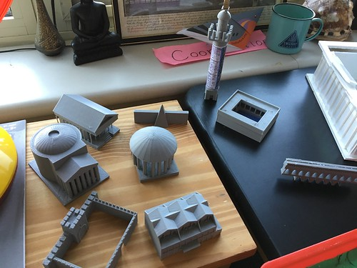 3D Prints of TinkerCAD Designs by Wesley Fryer, on Flickr