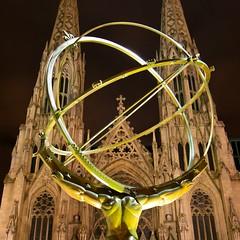 PIC00085 (Olivier epaud) Tags: usa newyork nyc atnight saintpatrickscathedral atlasstatue