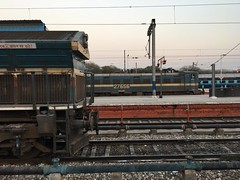 WDG4 Vs WAG 7 (WIN locomotives) Tags: railfanning junction express duronto shatabdi rajdhani delhi station diesel electric tracks train locomotive sabarmati capital chandigarh railway india