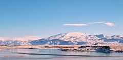 (JaanaMarja) Tags: iceland southoficeland fljótshlíð eyjafjallajökull glacier sunlight snow water swans birds sky mýrdalsjökull