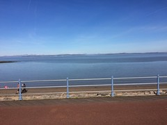 Across the blue Bay. A sunny sunday in Morecambe. (Bennydorm) Tags: iphone5s calm europe uk gb britain england scenic view resort lancashire morecambe march morecambebay bay tide water sea coast bluesky blue sunny