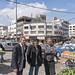 Imad Abu Shamsiyeh in the middle, Hebron, Palestine