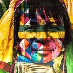 Graffiti by Kobra # 4 - International Women's Day - Rio de Janeiro/RJ - Brazil (Enio Godoy - www.picturecumlux.com.br) Tags: riodejaneiro night viveza236163399456 kobra nikon nikond300s brazil niksoftware colors portomaravilha internationalwomensday details guanabarabay texture