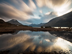 Wasdale just after sunrise (Alf Branch) Tags: water wasdale westcumbria western westernlakes lakes lakedistrict lakesdistrict stillwater refelections reflection sunrise clouds olympus olympusomdem5mkii zuiko ziuko918mmf4056ed alfbranch