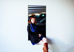227/365 Painter's Wish (Emily Moy Photography) Tags: 365 365project portrait people girl red redhair redhead beauty painterswish white walls parkinggarage urban art canon cinematic emotion mood photography winter emilymoy emilymoyphotography