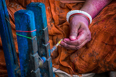 colourful working hand (mailmesanu20111) Tags: bengal ruralbengal cottageindustry nikon imnikon colours textileindustrywestbengal tantuja women life lifeonearth survive struggle indianwomencloth