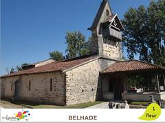 belhade_eglise (Tourisme Landes) Tags: landes fleurs vvf