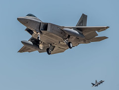 Couple of F22 landing at Moron AFB, Seville (David Parody) Tags:
