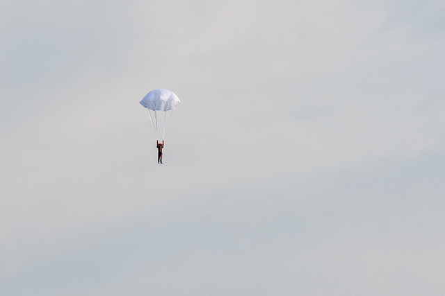 Phil's parachutist with the chute open.