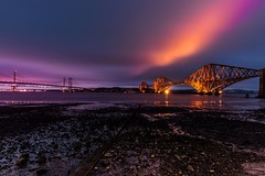 Magic Hour (MilesAnderson) Tags: magic magichour sunset sun seaside seascape longexposure magenta magical colours bridge architecture edinburgh scotland uk beautiful beach
