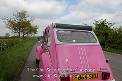 Rosie in the country-28 (magicalnights) Tags: pink wedding car derbyshire 2cv chic weddingcar shabbychicwedding sexyweddingcar 2cvweddingcar