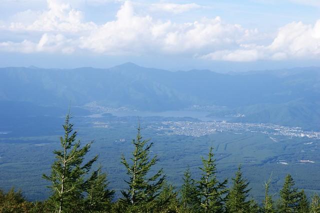 富士山から見る河口湖|富士山五合目