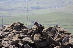 Radio ham on the summit of Yr Eifl (Martin Pritchard) Tags: wales iron fort north age tre yr lleyn nant pennisula eifl ceiri gwytheyrn