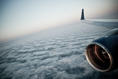 Another Tuesday at 36,000 feet (Scott Witt) Tags: leica airplane landscape 28mm flight wing engine windowseat m9