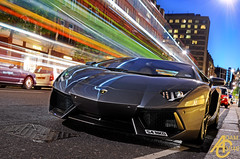 Shooting light (AdamC3046) Tags: light london speed trails trail shutter lamborghini supercar supercars lambo 2013 aventador lp700 lp7004