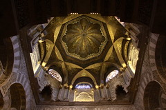 Above The Mihrab (MykReeve) Tags: espaa spain arch arches mosque andalucia dome cordoba mezquita andalusia mihrab