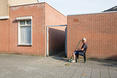 (Peter de Krom) Tags: chair pavement eindhoven broom