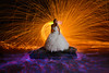 Trapped (Rodney Campbell) Tags: ocean lightpainting beach water bride model australia newsouthwales steelwool forresters forrestersbeach
