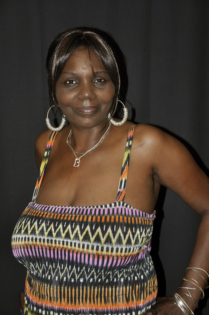 Busty ebony mature woman