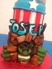Incredible Hulk Cake by Alissa, Houston, TX, www.birthdaycakes4free.com