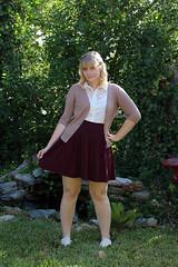 Collegiate (xoMiaMoore) Tags: fashion lace maroon cream skirt target hm cardigan nailart wiw outfitoftheday whatiwore chinaglaze ootd polkadotnails