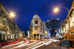 Keong Saik Nights (bing dun (nitewalk)) Tags: sunset night canon evening singapore chinatown traffic trails lighttrails bluehour tbd tiltshift trailing keongsaik nitewalk 5dmarkii tse17mmf40l tbdphotography tanbingdun bingdun