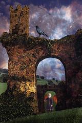 Digitalmania Susan Tuttle challenge (Fairy Surreal) Tags: fairytale landscape susan space surreal raven tuttle batwing gothicarch victoriangirl fairyscape digitalmania projectbunnyart