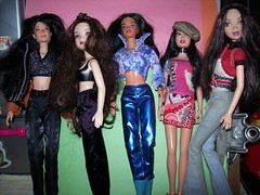 Some Cool Brunetts (JBMDOLLS) Tags: doll dolls barbie collection barbiehouse dollcollection dollroom