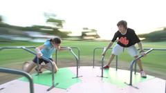Around We Go (16 sec time lapse) (brian.abeling) Tags: motion blur playground kids timelapse play merrygoround