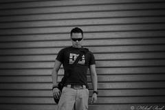 (Mikael P.) Tags: portrait blackandwhite bw sunglasses bag de soleil dc shoes pants noiretblanc nb rush delivery messenger lunettes dcshoes 511 stryke