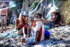 Kids just havin fun, pacific coast, California (vashayman_2020) Tags: california beach kids canon children fun losangeles picnic bubbles malibu blow 7d westcoast pacificcoast bigbubbles canon7d