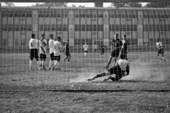 Dusty Save (Narratography by APJ) Tags: bw goal goalie soccer nj save dirt dust apj keeper sut rahway narratography