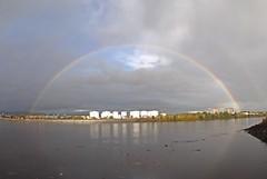 Noah's Arc (Bricheno) Tags: panorama river scotland riverclyde clyde rainbow escocia silos szkocja schottland clydebank scozia écosse yoker 蘇格蘭 escòcia rothesaydock σκωτία स्कॉटलैंड bricheno rothesaydocks scoția