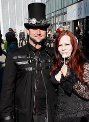 Goth Couple (fluffy_steve) Tags: festival germany couple goth goggles leipzig tophat corset wavegotiktreffen wgt2013