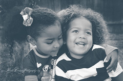 (Krista Cordova Photography) Tags: boy fall girl kids laughing children sister brother brotherandsister cutekids sisterandbrother hispanicchildren africanamericanchildren
