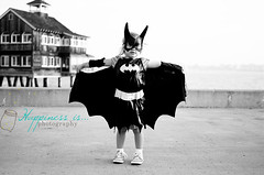 October 26 : Patroling the Docks (RachelBrandtPhotography) Tags: blackandwhite baby halloween project costume kid child cosplay halloweencostume batman batgirl 365